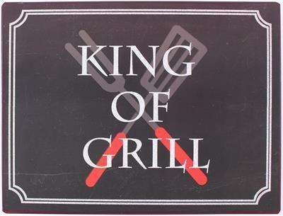"Wandschild ""King of Grill"""